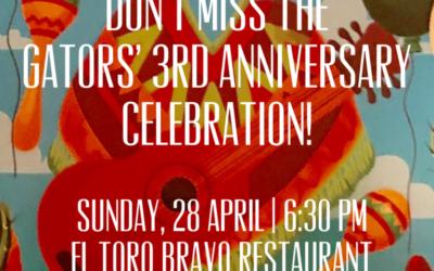 GATORS Celebrate their 3rd Anniversary!
