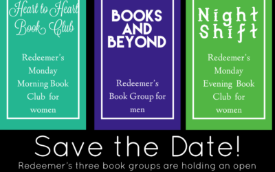 Like to read? Come learn more about Redeemer's book groups