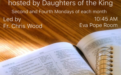 Monday Morning Bible Study with Fr. Chris Wood, hosted by Daughters of the King