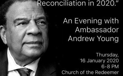 Ambassador Andrew Young at Redeemer tonight