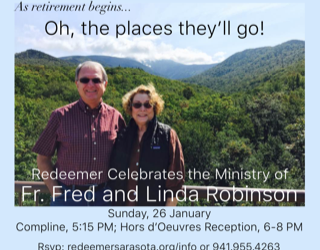 An Evening Honoring Fr. Fred and Linda Robinson