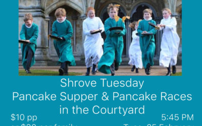 """""""The Feast Before The Fast"""" – Shrove Tuesday Parish Pancake Supper & Pancake Races"""
