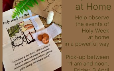 At-Home Devotional for Each Day of Holy Week Will Be Waiting for You