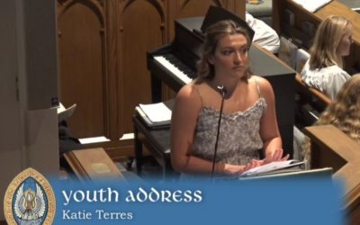 Youth Sunday 14 June 2020/Senior Address Katie Terres